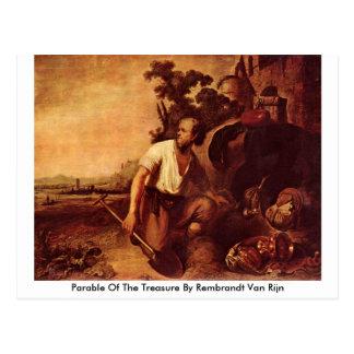 Parable Of The Treasure By Rembrandt Van Rijn Postcard