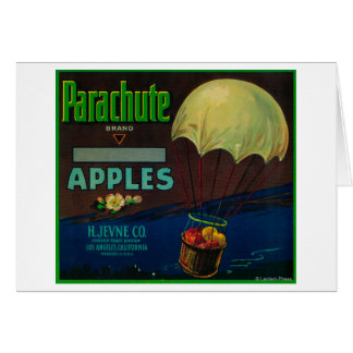 Parachute Apple Crate Label Greeting Card