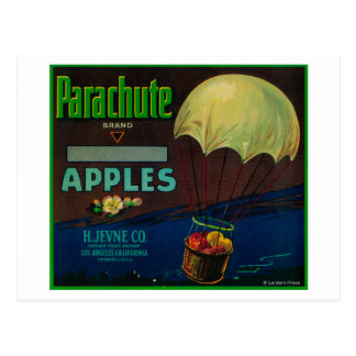 Parachute Apple Crate Label Postcard
