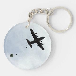 Parachute Drop EC-130H Compass Call Key Ring