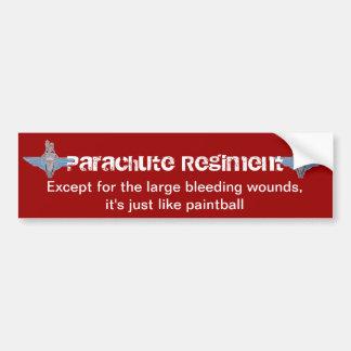 """parachute regiment """"paintball"""" sticker bumper stickers"""