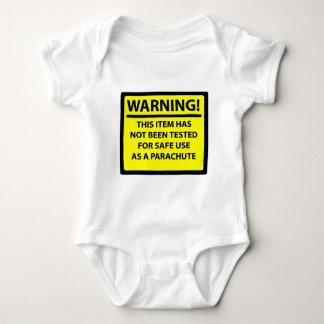 Parachute warning baby bodysuit