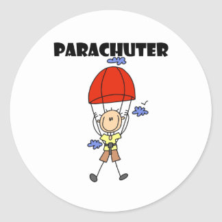 Parachuter Classic Round Sticker