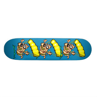 Parachuting Dog 21.3 Cm Mini Skateboard Deck