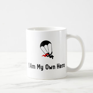 Parachuting Hero Coffee Mug