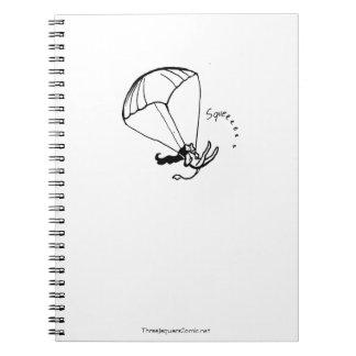 Parachuting Jaguar Artist Notebook! Notebook