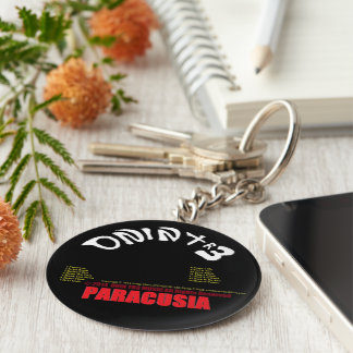 Paracusia CD-Keychain by ONIN TR3 with the Tracks Basic Round Button Key Ring