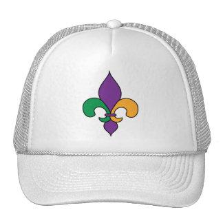 Parade Mardi Gras Fleur de Lis Trucker Hat