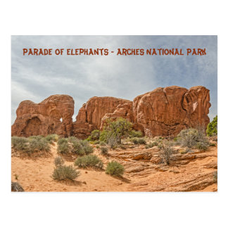 Parade of Elephants - Arches National Park Postcard