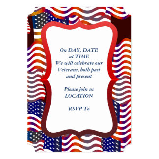 Parade Of Flags Veterans Day Party Invite