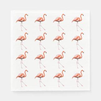 Parade of Pink Flamingos, Florida Bird on Napkins Disposable Napkin