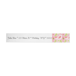 Parade of Pink Paisley Wraparound Address Label