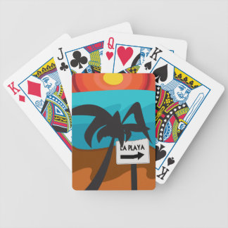 Paradise 02 bicycle playing cards