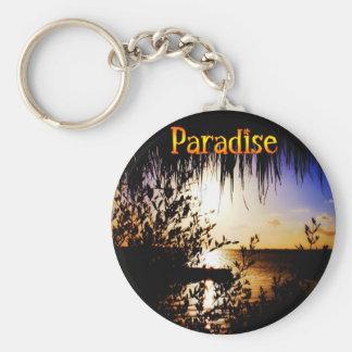 Paradise Basic Round Button Key Ring