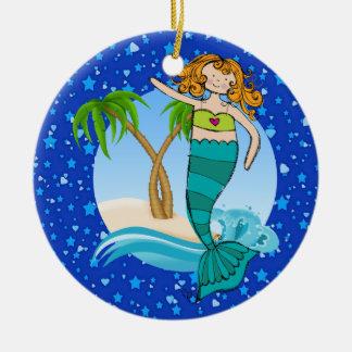 Paradise Beach Mermaid - Tag / Ornament - SRF