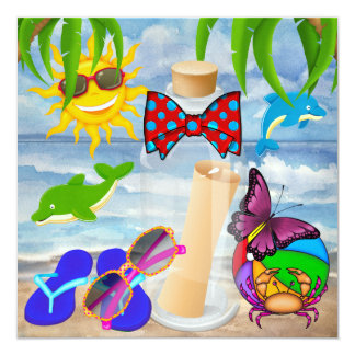 Paradise Beach Message in a Bottle - SRF Card