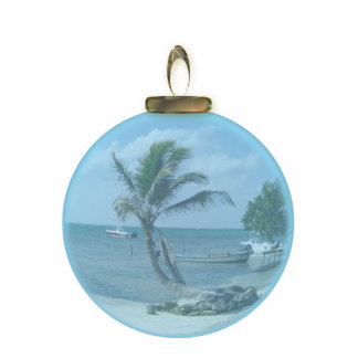 Paradise Beach Ornament Photo Sculpture Decoration