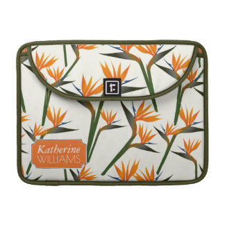 Paradise Bird Flower Pattern | Add Your Name Sleeve For MacBook Pro