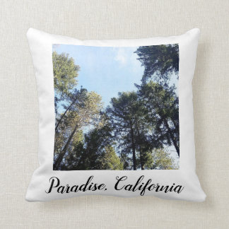 Paradise California Pine Trees Photo Cushion