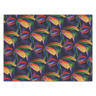 Paradise Colorful Rainbow Abstract Flower Art Tissue Paper
