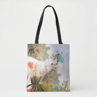 Paradise draws tote bag