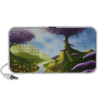 paradise fantasy landscape speaker