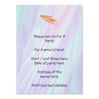 Paradise Fish. 17 Cm X 22 Cm Invitation Card