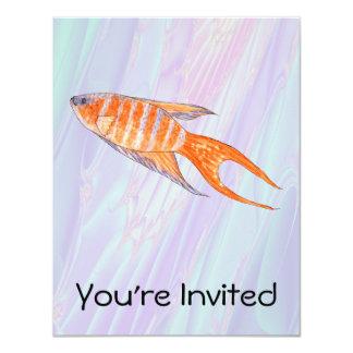 "Paradise Fish. 4.25"" X 5.5"" Invitation Card"