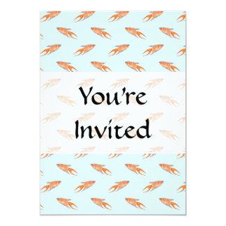 "Paradise Fish Pattern on Blue. 5"" X 7"" Invitation Card"