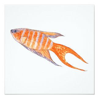 Paradise Fish, Watercolor. Custom Announcement