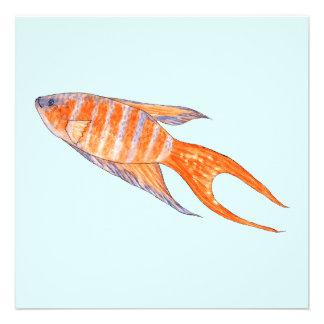 Paradise Fish Watercolor Custom Invites