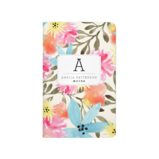 Paradise Floral Print Custom Journal