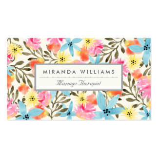 Paradise Floral Print Pack Of Standard Business Cards