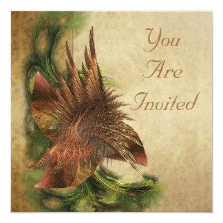 Paradise Flower Fractal Invitations