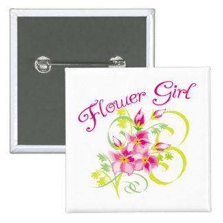 Paradise Flowergirl  Favors 15 Cm Square Badge