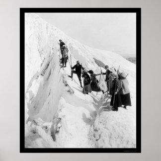 Paradise Glacier Climbing 1921 Poster