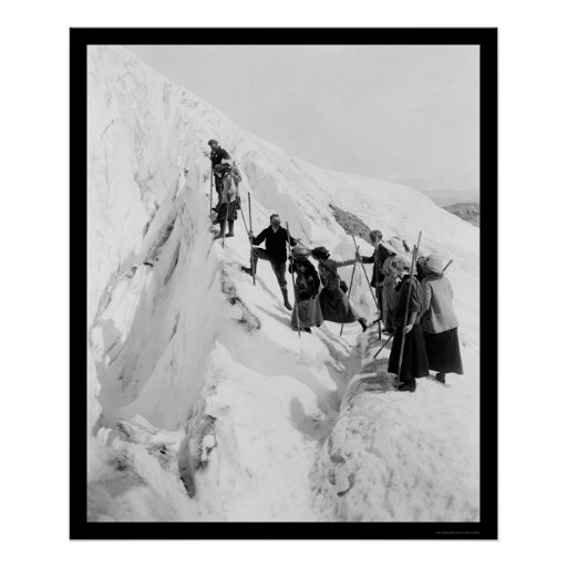 Paradise Glacier Climbing 1921 Print