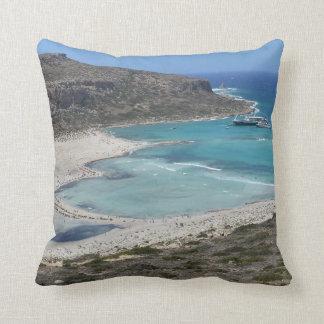 Paradise in Crete - Balos Lagoon Cushion Pillow