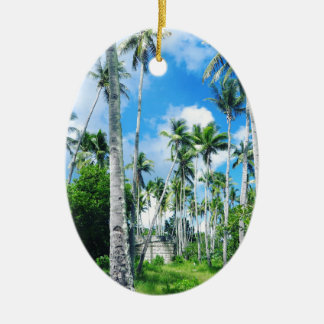 Paradise in the Pacific Ceramic Ornament