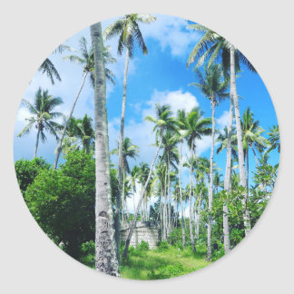 Paradise in the Pacific Classic Round Sticker