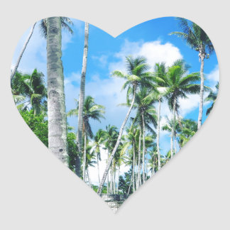 Paradise in the Pacific Heart Sticker