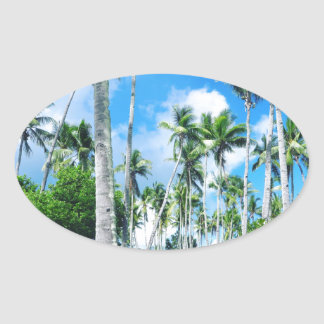 Paradise in the Pacific Oval Sticker