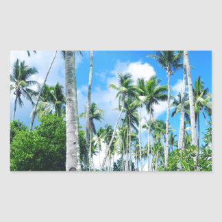 Paradise in the Pacific Rectangular Sticker