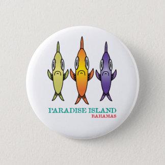 Paradise Island Bahamas 3-Fishes 6 Cm Round Badge