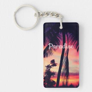 Paradise Acrylic Keychain