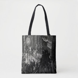 Paradise Lost Gustave Dore Angels Demons Print Tote Bag