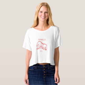 Paradise Love  Boxy Crop Top T-Shirt