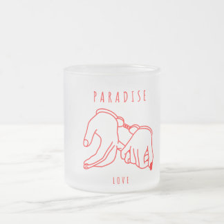 Paradise Love  Frosted Glass Mug