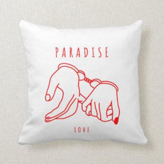 Paradise Love Polyester Throw Pillow