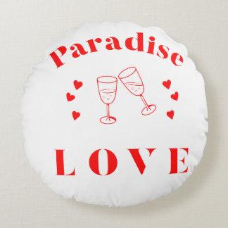 Paradise Love Round Throw Pillow